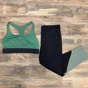 *SET* VS workout Capri leggings and sports bra - M